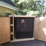 Outdoor TV Storage Unit