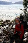 Vasilisa on Descent to Glacier Grey (Torres Del Paine, Chile)