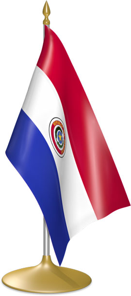 Paraguayan table flags - desk flags