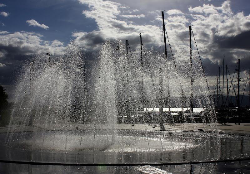 zampilli lungo il porto di ariosa