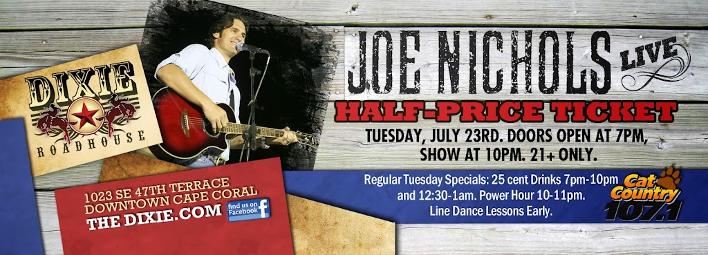 DRH Joe Nichols Ticket