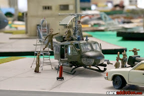 Helicopter Maintenance Diorama