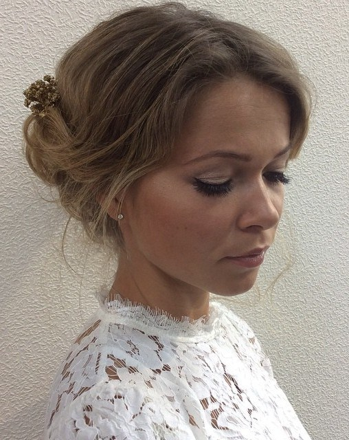 The trendy Wedding Hairstyles For And include hair color 2017 14