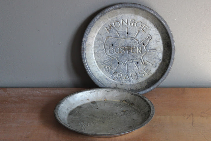 Embossed pie tins available for rent from www.momentarilyyours.com, $5.00 each.