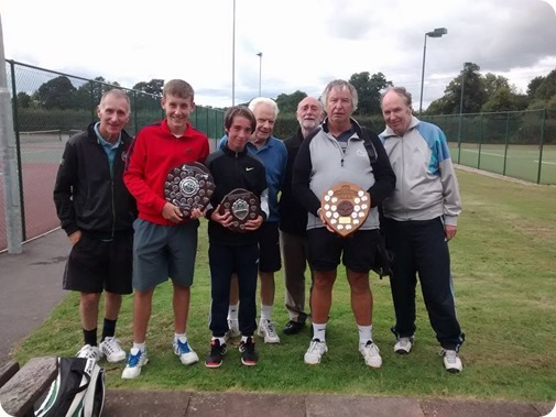 Wistaston Jubilee Tennis Club with their trophies