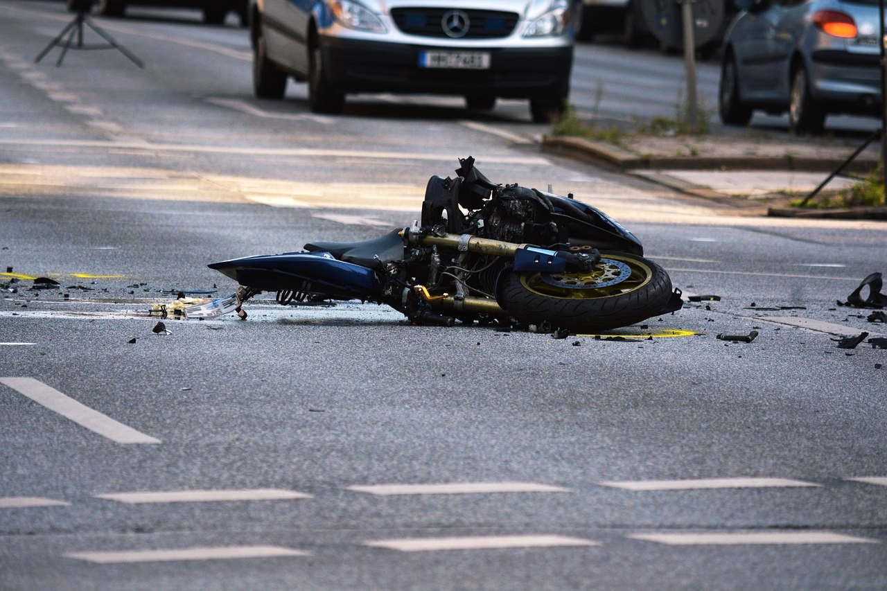The bike that met with the accident