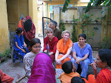 PVs practising their Hindi with locals