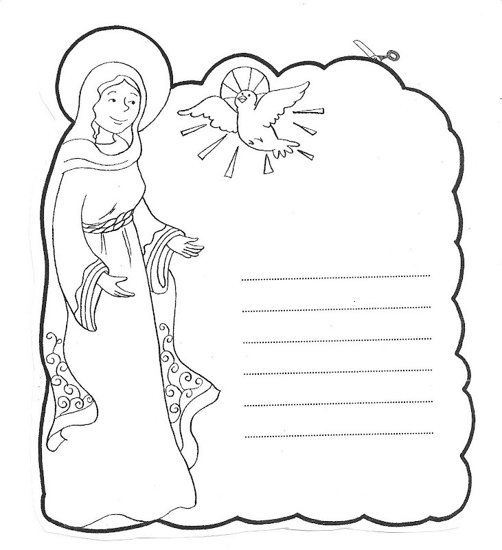 Letter to virgin marie coloring pages