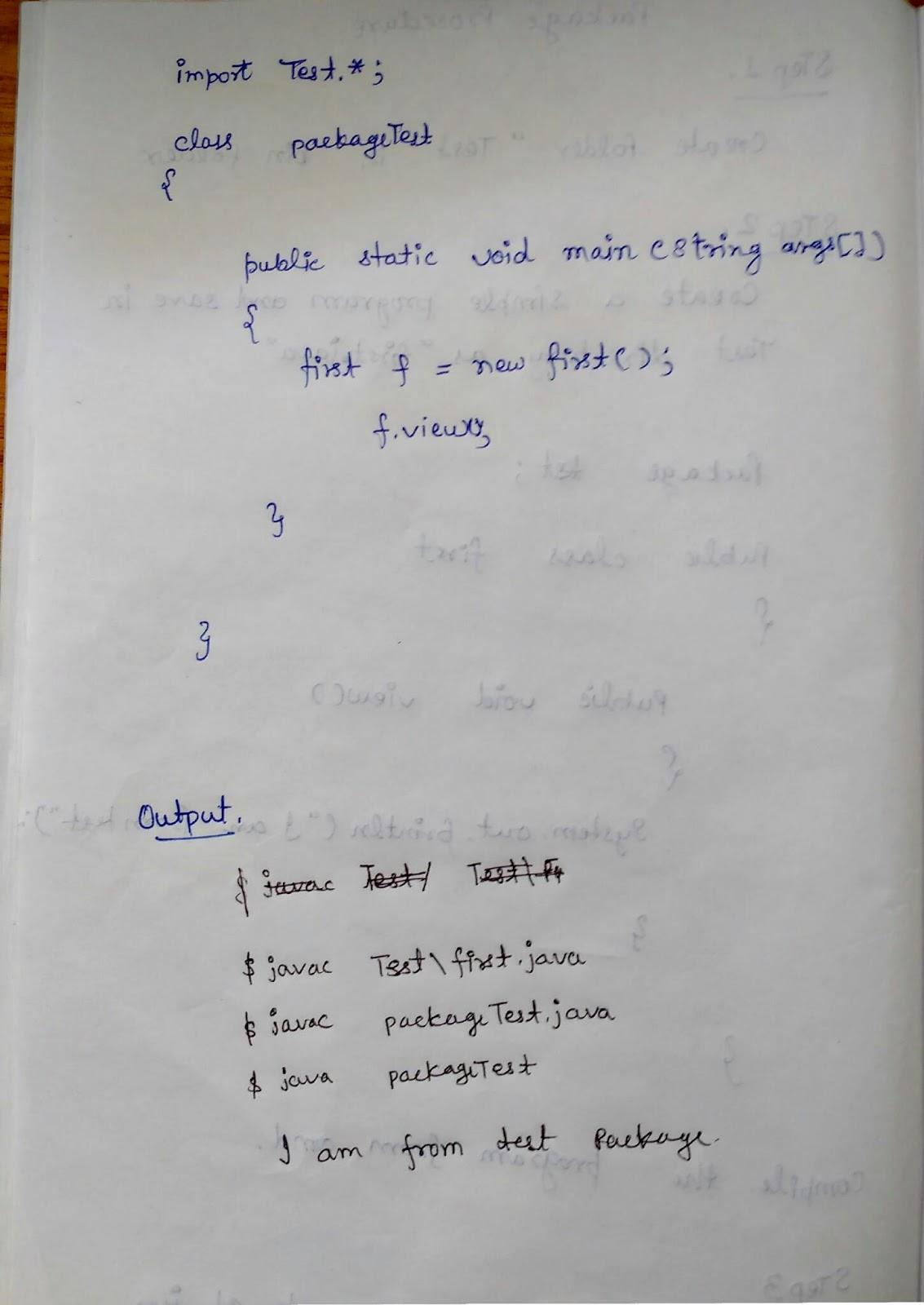 java how to create pakage