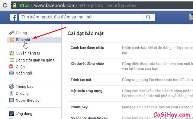 Bước 2: Vào phần khóa tài khoản Facebook