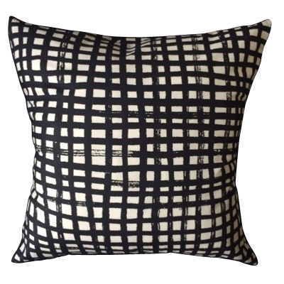 Chalkboard pattern pillow