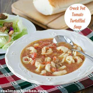 Crock Pot Tomato Tortellini Soup.