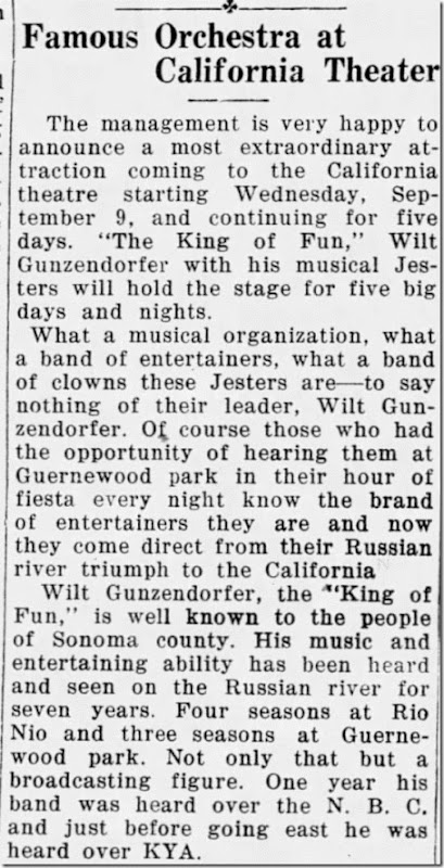 Wilt King of Fun Sonoma West Times and News 9_4_1931 Page 8