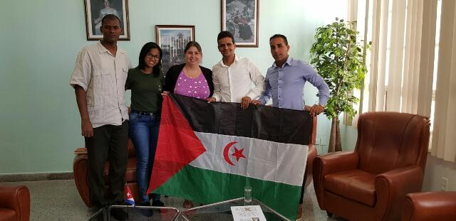 الأمين العام لإتحاد طلبة الساقية الحمراء ووادي الذهب يلتقي بقيادات المنظمات الشبانية والطلابية الكوبية.