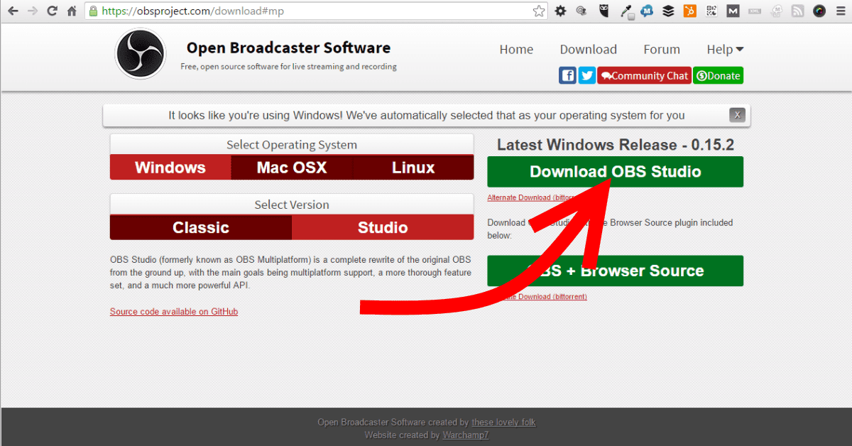 OBS Studio Download Page