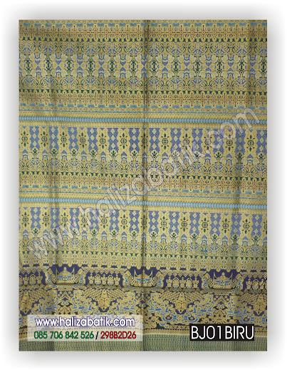 Kain Batik, Kumpulan Gambar Batik, Seragam Batik, BJ01 BIRU