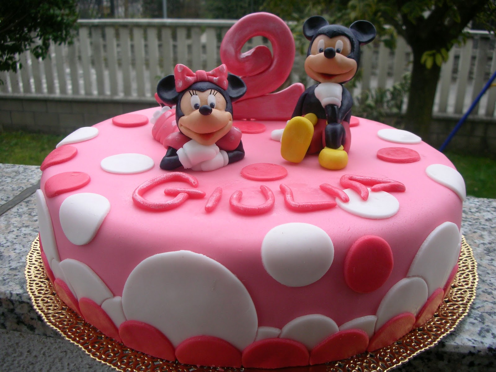 Zuccheri amo torta minnie e topolino