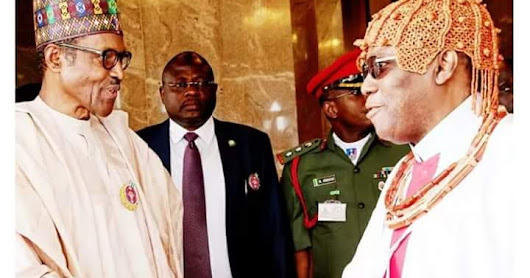 Benin Monarch Visits president Buhari,Demands Infrastructure Development.