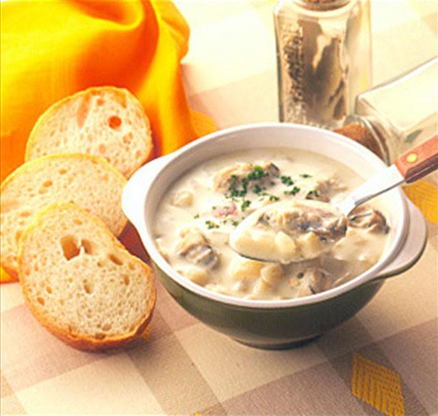 オイスターチャウダー | クラムチャウダー缶でつくれるレシピ | キャンベル