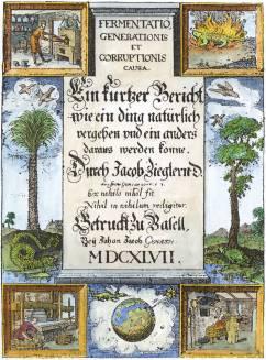 From J Ziegler Fermentatio Generationis Et Corruptionis Causa Basel 1647, Alchemical And Hermetic Emblems 2
