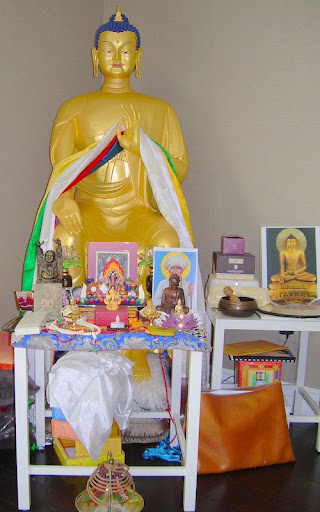 Maitreya Statue in private home near Los Angeles, June 2012. (This Maitreya is not one of the recently donated statues but in a home of a Maitreya Project benefactor.)