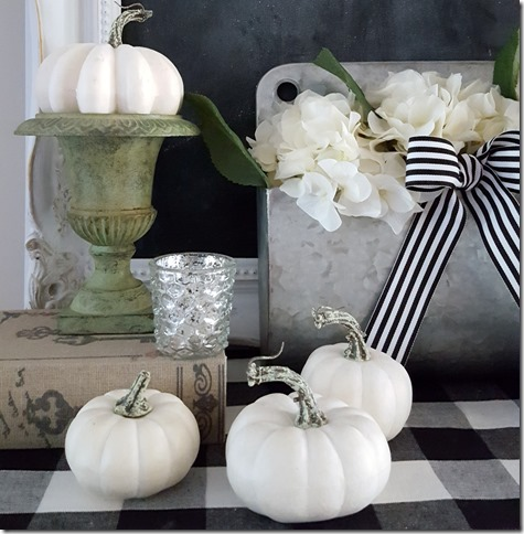 fall porch, fall , fall pillow covers, cottage style, farmhouse style, buffalo check, christmas, faux white pumpkins