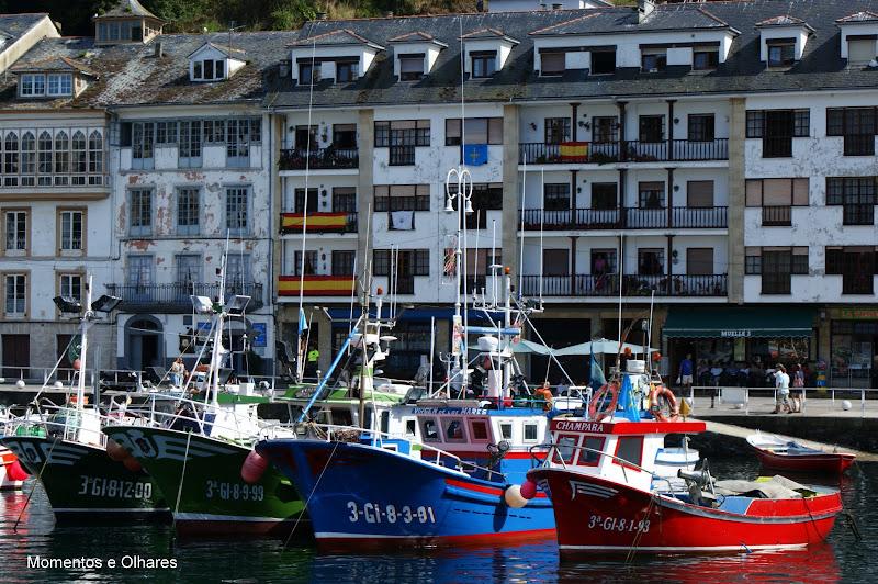Barcos em Luarca