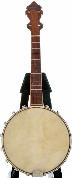 Lange Banner Blue Banjolele Banjo Ukulele