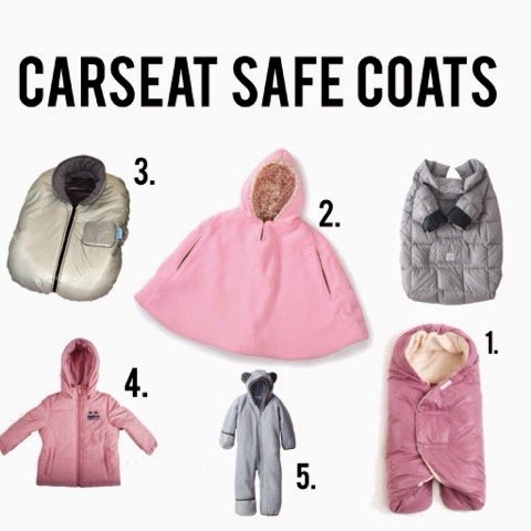 Carseat safe coats, winter coats, kids