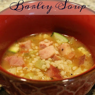 Ham and Vegetable Barley Soup.