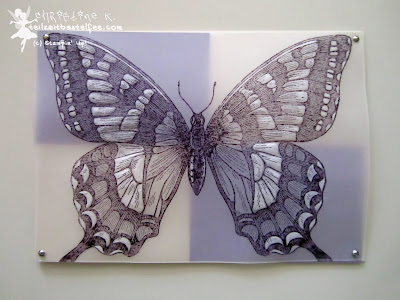 stampin up, swallowtail, pergament, vellum, miniklammern