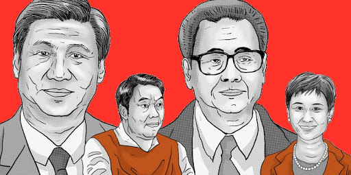 Relatives of current top leader Xi Jinping and ex-top leader Li Peng have offshore companies arranged through Mossak Fonseca. Images from ICIJ.