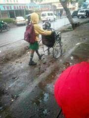 See A Kenyan boy who takes his mother to shop daily before going to school