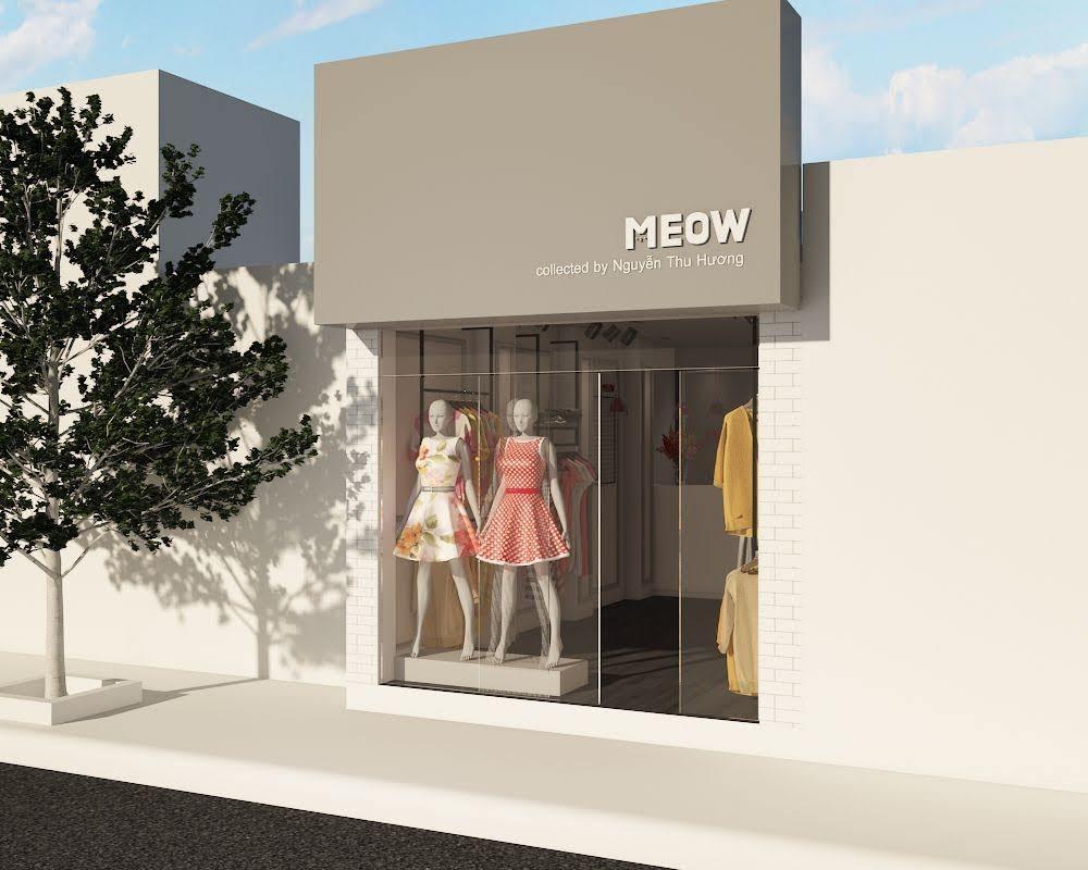 thiết kế shop thời trang nữ meow 1
