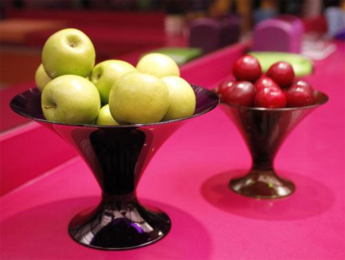 Fruteiras - decoração rosa e laranja BBB 12