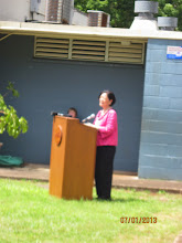 Photo: US Senator Mazie Hirono addressed the audience.  Earlier this year, Senator Hirono visited Hale Kula and chatted with parents and our Blended Learning students.  We were glad she could return for this special event.