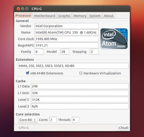 CPU-G su Ubuntu