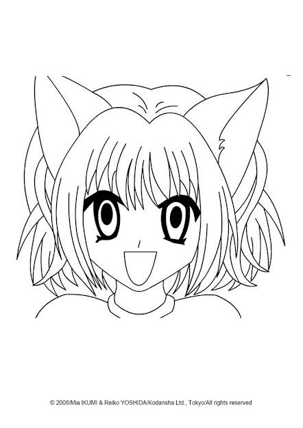 Tokyo Aliens Ichigo Momomiya Coloring Picture  Coloring Page  Manga  Coloring Pages  Tokyo Mew Mew Coloring