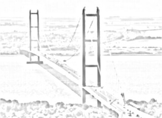 Humber suspension bridge sketch