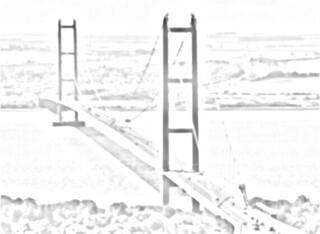 Humber suspension bridge sketch