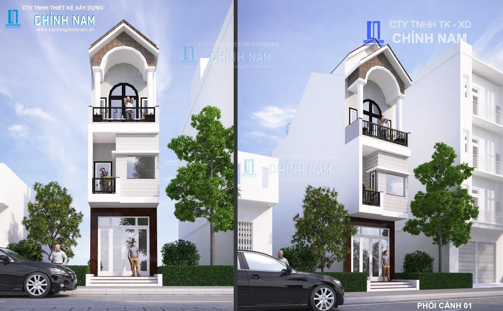 Thiết kế nhà anh Đặng Văn Thành ở Biên Hoà