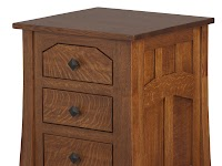 Hickory Nightstands with Drawers