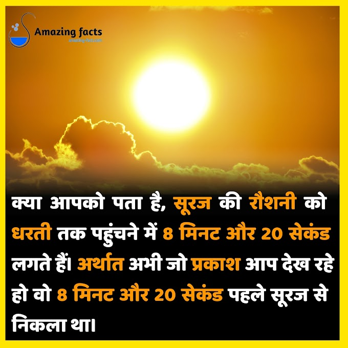amazing facts in hindi || रोचक तथ्यो।