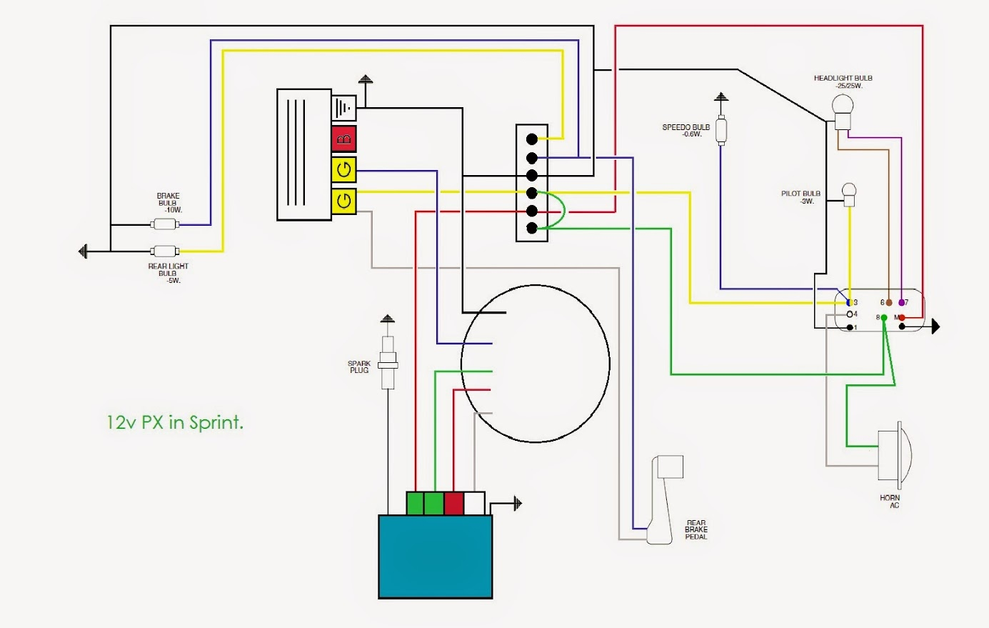 12v Wiring Diagram : Lambretta v wiring diagram images