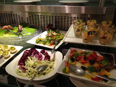 Salads at Petals Restaurant, Rose Rayhaan by Rotana