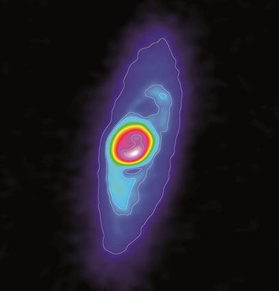 emissão de poeira ao redor da  protoetrela BHB07-11