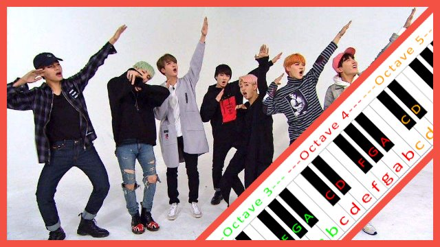 IDOL by BTS ~ Piano Letter Notes