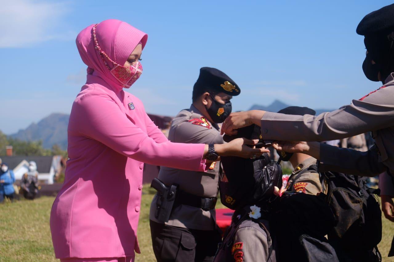 Kapolda Sulsel Pimpin Upacara Pembaretan Bintara Remaja Angkatan 45 TA.2021, Direktorat Samapta Polda Sulsel.
