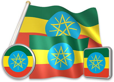 Ethiopian flag animated gif collection