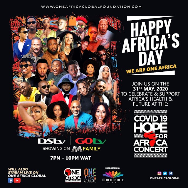 Hope For Africa Concert: 2Baba, Tiwa Savage, Davido, Falz, Flavor, Tekno, Others Join Line Up